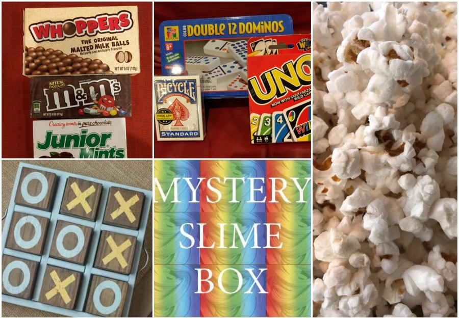 BeFunky Collagegame night with popcorn